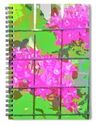 Trapped Flowers Spiral Notebook