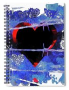 Trapped Heart Spiral Notebook