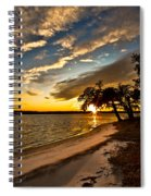 Trapped Sunset Spiral Notebook