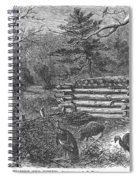 Trapping Wild Turkeys, 1868 Spiral Notebook