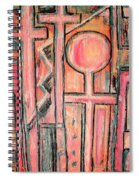 Trappings Of Love Abstract Art Painting  Spiral Notebook