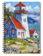 Traps And Lighthouse Spiral Notebook