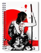 Trash Polka - Female Samurai Spiral Notebook