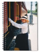 Traveling By Train Spiral Notebook