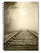 Traveling On The Tracks Antique Spiral Notebook