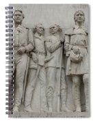 Travis And Crockett On Alamo Monument Spiral Notebook
