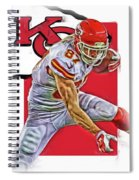 Travis Kelce Kansas City Chiefs Oil Art Spiral Notebook