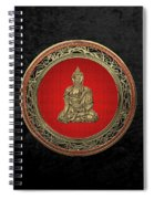 Treasure Trove - Gold Buddha On Black Velvet Spiral Notebook