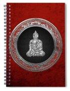 Treasure Trove - Silver Buddha On Red Velvet Spiral Notebook