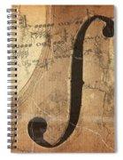 Treble Clef Spiral Notebook