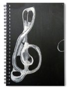 Treble Clef Spiral Notebook