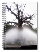 Tree And Fountain Spiral Notebook