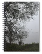 Tree And Moored Boat Spiral Notebook