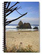 Tree And Ocean Spiral Notebook