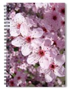 Tree Blossoms Pink Spring Flowering Trees Baslee Troutman Spiral Notebook