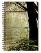 Tree Bowing To Swimming Beaver  Spiral Notebook