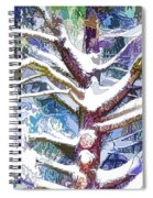 Tree Branches Covered By Snow In Winter Spiral Notebook