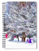 Tree Branches Covered By Snow  Spiral Notebook