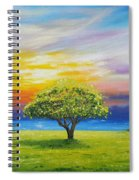 Tree By The Beach Spiral Notebook