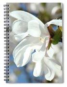 Tree Floral Garden White Magnolia Spiral Notebook