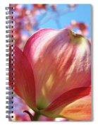 Tree Flowers Pink Dogwood Flowers 5 Dogwood Trees Art Blue Sky Baslee Troutman Spiral Notebook