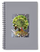 Tree In The Garden On Aluminum Substate Spiral Notebook