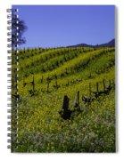 Tree  In Vineyards Spiral Notebook