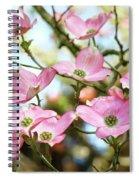 Tree Landscape Pink Dogwood Flowers Baslee Troutman Spiral Notebook