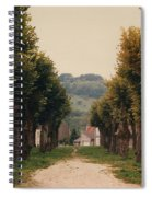 Tree Lined Pathway In Lyon France Spiral Notebook