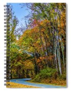 Tree Lined Road Spiral Notebook