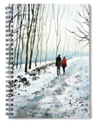 Tree Lined Stroll Spiral Notebook