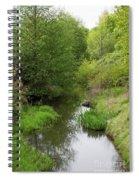 Tree Mirror In Stream 2 Spiral Notebook