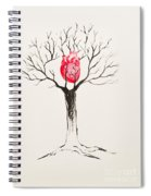 Tree Of Hearts Spiral Notebook