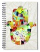 Tree Of Life Hamsa- Art By Linda Woods Spiral Notebook