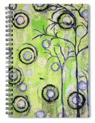 Tree Of Life Spring Abstract Tree Painting  Spiral Notebook
