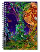 Tree Of Life With Owl And Dragon Spiral Notebook