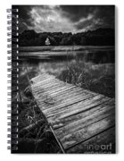 Tree Of Zen Black And White Spiral Notebook
