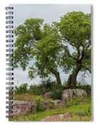 Tree On A Hill 2 Spiral Notebook