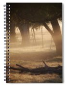 Tree Row In Morning Fog Spiral Notebook