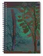 Tree Shadows At Midnight Spiral Notebook
