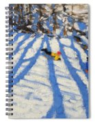 Tree Shadows Morzine Spiral Notebook