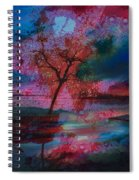 Tree Splat Fragmented Spiral Notebook
