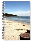 Tree Stumps On White Beach Spiral Notebook