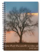 Tree - Sunset - Quotation Spiral Notebook