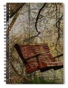 Tree Swing By The Lake Spiral Notebook