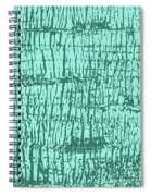 Tree Texture Turquoise Spiral Notebook