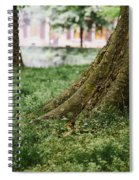 Tree Trunks In Spring Spiral Notebook