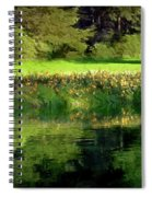 Tree With Lily Reflections Spiral Notebook