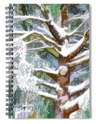 Tree With White Fluffy Snow Spiral Notebook