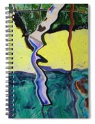 Tree With Yellow Sky Spiral Notebook